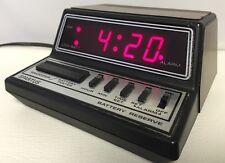 "Vintage Spartus ""Neptune"" Model 1104 Alarm Clock  Red LED Retro 1970s Tested"