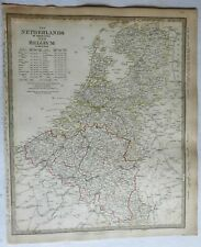Netherlands Belgium Holland Utrecht Flanders 1844 SDUK detailed antique map
