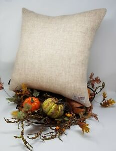 CREAM Plain Wool HARRIS TWEED handmade genuine cushion cover all sizes