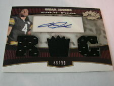2006 Topps Triple Threads #116 Omar Jacobs Autograph / Jersey card B106 Steelers