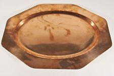 "Vintage JOS. HEINRICHS Paris New York 19"" Solid Copper Serving Tray"
