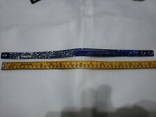 SWAROVSKI Crystal Suede Leather Adjustable WrapBracelet in Navy and White