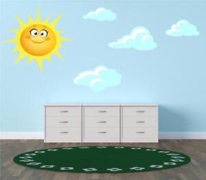Sun and Clouds Kids Children Bedroom Nursery Sticker Print Decal Transfer