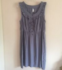 bfb89c244bbc anthropologie maeve Women fit & flare dress Gray , Buttoned Flare Torso  #0518