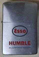 VINTAGE VERY RARE 1962 ESSO HUMBLE OIL ZIPPO LIGHTER NICE CONDITION