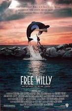 """FREE WILLY - 27""""X40"""" Original Movie Poster One Sheet 1993 Killer Whale"""