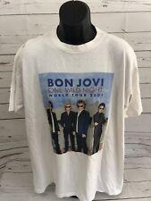 Vintage 2001 Bon Jovi One Wild Night World Tour T-Shirt Size XL fb1147e7f7ab