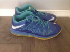 Nike Air Max Lebron X Low 10 Sprite Volt Blue Sport Turquoise SZ 11 (579765-500
