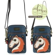 New Chala Cell Phone Purse Crossbody Pleather Convertible HORSE Blue gift