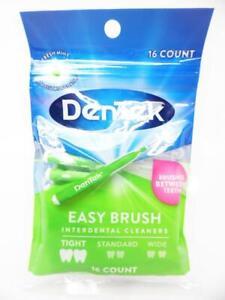 DenTek Easy Brush Interdental Cleaners fits Between Tight Teeth Mint Flavor 16ct
