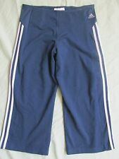 Women's Adidas Climacool Clima365 Yoga Capris Cropped Pants Blue & White Medium