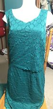 Womens Enfocus Green Layered Dress Size 18W
