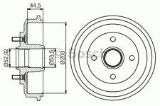 Bremstrommel - Bosch 0 986 477 266