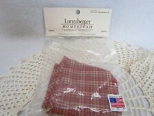 Longaberger 2007 Woven Memories Basket Liner:  Red Plaid ~ New!