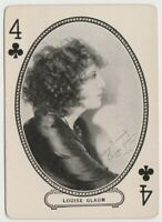 Louise Glaum 1916 MJ Moriarty Silent Film Star Playing Card - Silent Vamp
