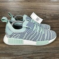 Adidas NMD_R1 STLT Primeknit 'Ash Green' Running Shoes (CQ2031) Women's 10