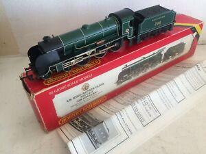HORNBY R154 SIR DINADAN 795 SOUTHERN MATT GREEN LOCO KING ARTHUR CLASS & BOX