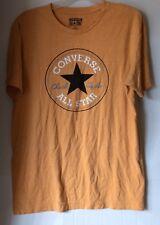 Converse All Star Chuck Taylor Tee Shirt T Shirt Mens Large Cotton Orange Black
