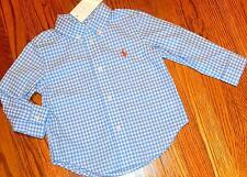 POLO RALPH LAUREN AUTHENTIC BABY BOYS BRAND NEW DRESS BLUE SHIRT Size 18M, NWT