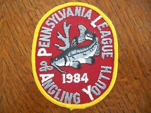 PA PENNSYLVANIA  FISH COMMISSION  ANGLING FOR YOUTH SERIES 1984 CATFISH PATCH