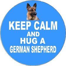 2 German Shepherd Dog / Alsatian Car Stickers (Keep Calm & Hug) By Starprint