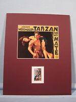 Johnny Weissmuller in Tarzan and His Mate & the Edgar Rice Burroughs stamp