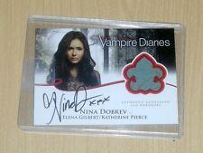 2013 Vampire Diaries Season 2 wardrobe autograph Elena Gilbert/ Nina Dobrev A1