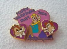 *~*DISNEY WDW CHIP & DALE TWO CHIPS & A MISS  VALENTINE'S DAY 2004 LE PIN*~*