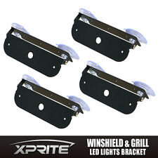 Xprite Adjustable Mount Bracket Strobe LED Light Holder For Windshield-4PCS
