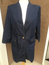 New $149 Chico's Refined Denim Jacket Topper Duster Dream Wash 3 = XL 16 18 NWT