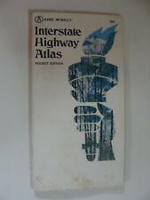 Rand McNally Interstate Highway Atlas 1971 pocket edition