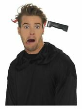 Knife Through Head Headband Fake Wound Injury Halloween Fancy Dress