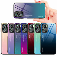 For Xiaomi Redmi Note 10 / 10S Luxury Hybrid Tempered Glass Back Case Cover