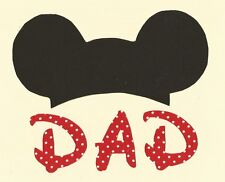 """Mickey Mouse """"DAD"""" Iron on Fabric Applique"""
