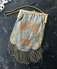 Antique Victorian/Art Deco Micro Beaded Evening Bag Purse Needs Relining