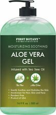 Aloe Vera Gel Pure Aloe Cold Pressed with Tea Tree Oil Natural Raw Moisturizer