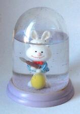 Vintage Cartoon Rabbit Snow Globe / Water Dome Collectible #66