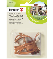 NEW SCHLEICH WESTERN SADDLE + BRIDLE HORSE PLAYING DAILY CHILDREN FUN AGE 3+ TOY