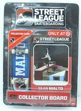 Street League Skateboarding Pro Series 1 Blue Skateboard Sean Malto Card