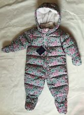 Baby Gap 0-6 Months Girls Down Floral Bunting New With Tags