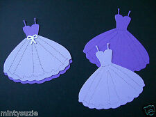 10 PROM / PRINCESS DRESS DIE CUTS - PURPLE COLLECTION