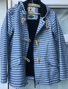 Seasalt Patterned Seafolly Organic Cotton Tincloth Waterproof Jacket Size 10
