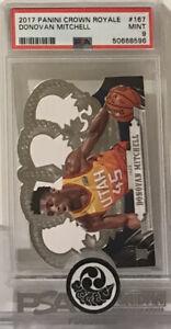 2019 NBA Panini Crown Royale #167 Donovan Mitchell RC Rookie Card PSA 9 Mint