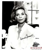 Lauren Bacall signed 8x10 Photo JSA COA Famous Actress d.2014 B699