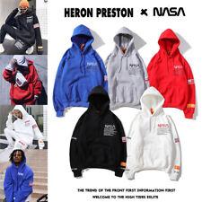 NASA Oversire Hooded Long Sleeve Sweater Pullover Coat Hip-Hop Sweatshirt Jumper