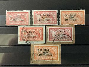 Syria - Stamps of France part Set Surch/Optd OMF 2pi,5pi & 10pi Mint/Used CV$120