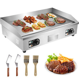 """3000W 30"""" Commercial Electric Countertop Griddle Flat Top Grill Hot Plate BBQ"""