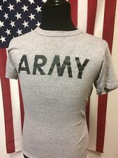 Vtg 80s Champion US Army T-Shirt men's MEDIUM PT Heather Military Gym Grey 14594