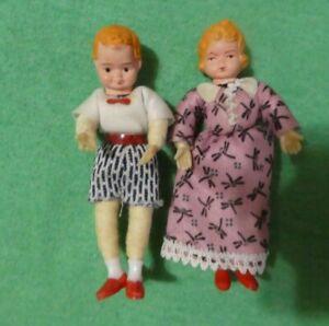 Vintage German CaCo Dollhouse Doll - Vintage CaCo Blonde Boy & Girl Doll