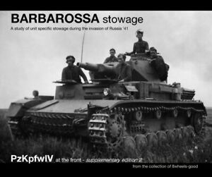 """""""Barbarossa Stowage"""". PzKpfwIV at the front Supplementary Edition."""